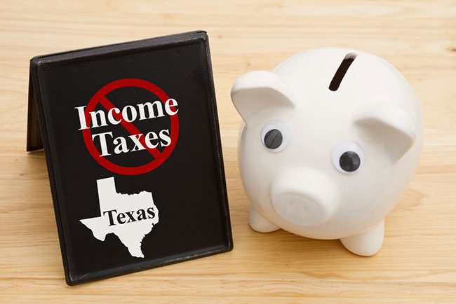 No state income tax in Texas